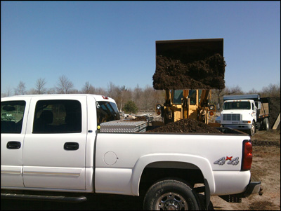 bark and mulch deliveries for holland area