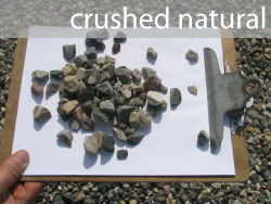 crushed stone natural holland area