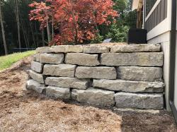 outcropping wall with delta ledge stone