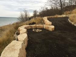East Port Ledge Stone Seat Wall