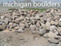michigan fieldstone boulders