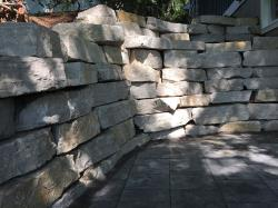 Silver Creek outcropping stone retaining wall