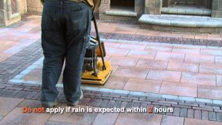 unilock polymeric sand installation video