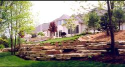 Chilton stone outcropping retaining wall
