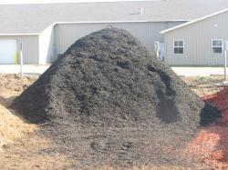 black color mulch