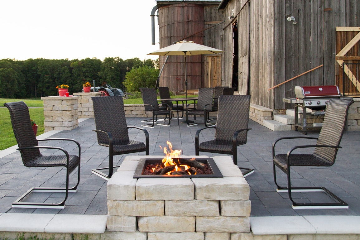 kodah square fire pit kit